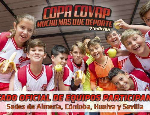 Listado oficial de equipos seleccionados para las sedes de Almería, Córdoba, Huelva y Sevilla
