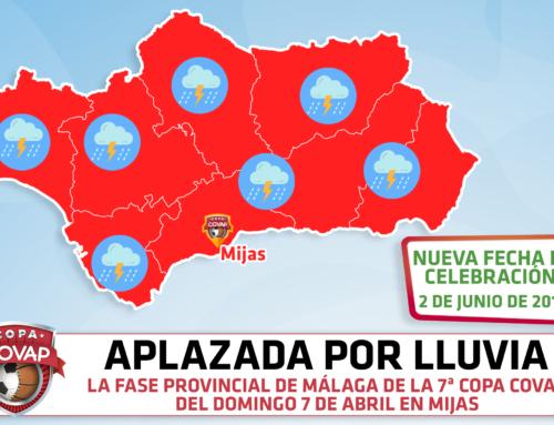 Pospuesta la sede del 7 de abril en Mijas de la 7ª Copa COVAP al 2 de junio