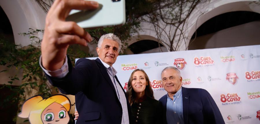 Marta Fernández, Rafael Gordillo y Fernando Romay. ¡Padrinos de élite para la nueva edición de la Copa COVAP!