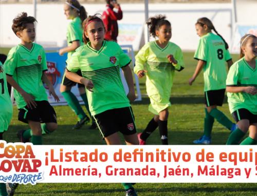 Listado oficial: equipos seleccionados para Almería, Granada, Jaén, Málaga y Sevilla