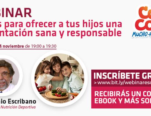 Webinar: «Claves para ofrecer a tus hijos una alimentación sana y responsable»